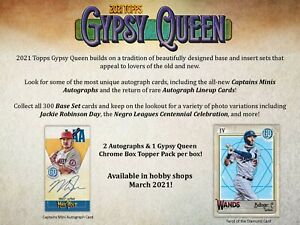 2021 Topps Gypsy Queen Base Cards (151-300) *YOU PICK*