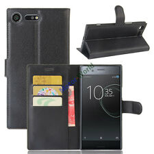For Sony Xperia XZ Premium Magnetic Card Wallet Flip PU Leather Case Stand Cover