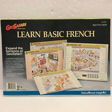 GeoSafari French Learn Basic Game Set 20 Lesson Homeschool Educate