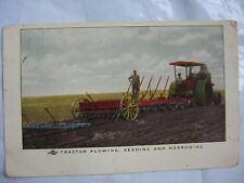 Rumely Oil Pull Steam Tractor Post Card Brochure Plowing Seeding