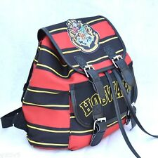 Harry Potter Backpack Hogwarts School Bag Crest Striped Rucksack Shoulder Bag