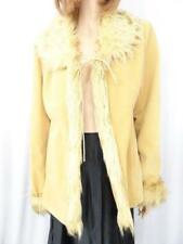 Vintage BEYOND FASHION Beige Suede Jacket Sz 14