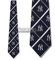 Yankees Ties Officially Licensed Mens New York Yankees Necktie NWT 100% Silk
