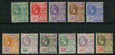 British Guiana  1921-27  Scott #  191-201  Mint Hinged  Set