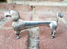 Antique German Silver Plate Knife Rest Poodle Dog Art Nouveau Deco BEAUTIFUL!