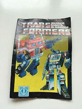 Transformers | G1 | Hasbro notice pour 1980 S Ligne des figures