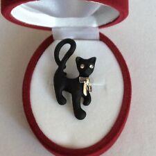 Cat Brooch Lucky Black Cat Gorgeous