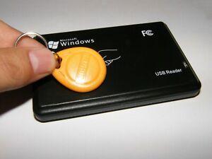 1x RFID reader 125 Khz USB Windows  EM410x +5 keys Kellnerschloss