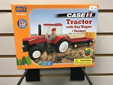CASEIH TRACTOR WITH HAY WAGON AND FARMER IMEX LEGOS #39504