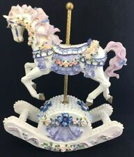 Musical Carousel Rocking Horse Music Box