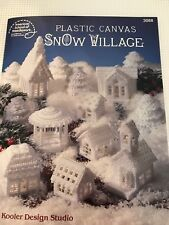 1991 Plastic Canvas Snow Village Book With Supplies Everything Except Yarn