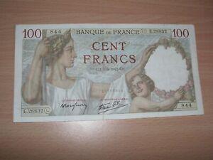BEAU BILLET DE 100 FRANCS SULLY DE 1942