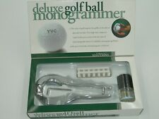 NEW Perfect Solutions Deluxe Golf Ball Monogrammer