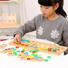 Montessori wooden toy calculation logarithmic board match game math learning set