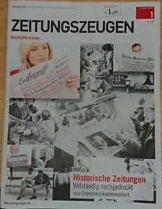 Zeitungszeugen Nr. 1 Historische Zeitungen von 1933 Nachdruck von 2012....