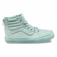 Vans Kids Girls SK8 Hi Zip Sneakers Mono Harbor / Grey Glitter 10.5 New
