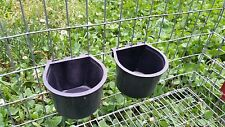 Set of 2 Feeder / Water Cups for Small Animal, Rabbit or Quail Wire Cages.