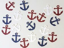 Anchor Confetti Nautical Table Pirate Party Birthday Baby Wedding Red White Blue