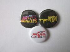 "ARCTIC MONKEYS X 3 SET A-1""  Button Badges - music -FREE UK POSTAGE*"