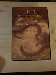 J.R.R. Tolkien The Hobbit The Lord Of The Rings illustrated by Alan Lee Rare Ed