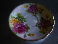ROYAL SEALY JAPAN China Saucer Only Roses and Gold Pattern. Lusterware
