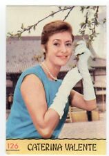 figurina CANTANTI PANINI 1968 REC numero 126 CATERINA VALENTE