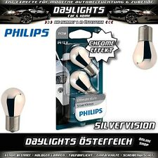 Philips PY21W SilverVision Chrom BAU15s Chrome Blinker Halogen Lampe Duobox