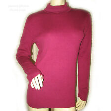 PURPLE RED Burgundy Long Sleeve TURTLENECK Winter KNIT KNITTED SWEATER TOP Large