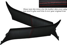 RED STITCH FITS BMW MINI ONE COOPER S 01-06 2X WINDSCREEN PILLAR LEATHER COVERS