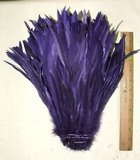 """Rooster Tail Feathers Regal Purple 1/4 lb 12-14"""""""