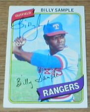 Rangers Billy Sample 80 Topps Autographed Card