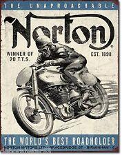 NORTON Motorcycle Large Vintage Style Retro Metal Tin Sign  Biker Gift  1706
