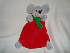 Piccolo Bambino Mouse With Green Scraf Plush Baby Rattle