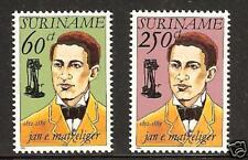SURINAM # 930-931 MNH Inventor Shoe Machine Matzeliger