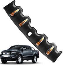 For Ford Ranger T6 Pickup 2015 16 2017 Front Roof Spoiler Cover Black + LED FITT