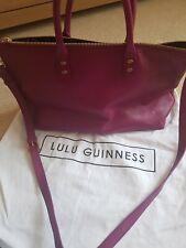 Lulu guinness leather tote bag used