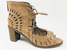 a5798a73e67 Breckelles Gabby11 Womens Shoes Size 6.5 Faux Suede Lace Up Chunky Heel
