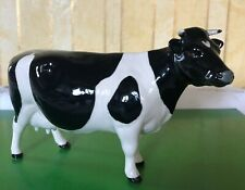 BESWICK COW FRESIAN CH CLAYBURY LEEGWATER 1261A BLACK & WHITE GLOSS PERFECT [b]