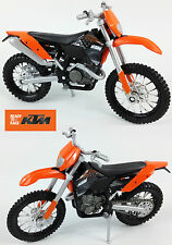 KTM EXC450 1:18 Die-Cast Enduro Motocross MX Toy Model Bike Orange NEW MAISTO