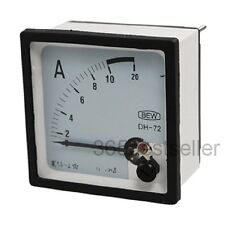 1Pcs Screw Mounted AC 10A AMP Square Panel Analog Current Meter Ammeter