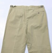 Aquascutum Mens Trousers Beige Regular Adjustable England 34R W34 L32 RRP £175