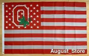 Ohio State University Buckeyes 3x5 ft Flag NCAA OSU