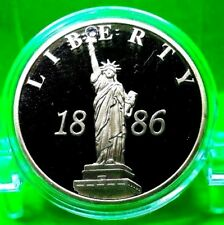 STATUE OF LIBERTY 1886 CRYSTAL INLAY COMMEMORATIVE COIN