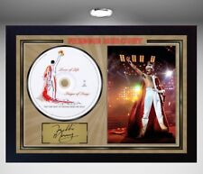 Freddie Mercury SIGNED FRAMED PHOTO AND Lover Of L CD Disc Presentation Display