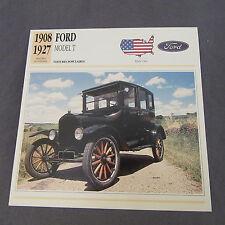 636C Edito Estación de Ficha Folleto Ford Modelo T