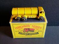 Matchbox Lesney Moko 11a ERF Petrol Tanker Yellow