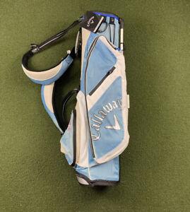 Callaway Hyper-Lite 3.0 Stand Golf Bag 3-Way Divide Top Blue White Black