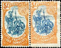 """COLONIES CÔTE DES SOMALIS N° 52 NEUF** Variété """"VOIR DESCRIPTIF"""""""