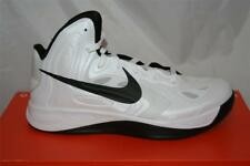 NEW MENS NIKE HYPERFUSE TB BASKETBALL SHOE SIZE 11.5 WHITE/BLACK
