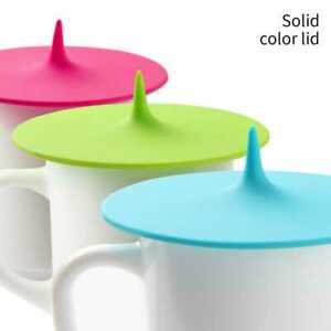 Silicone Cup Lid Glass Drink Cover Anti-dust Coffee Mug Suction Seal Pack of 4
